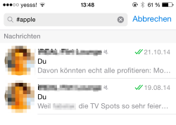 Hashtags einmal sinnvoll, statt belustigend: Themenwiederfinden in Gruppenchats – *love is in the air* // Bildrecht: Autor