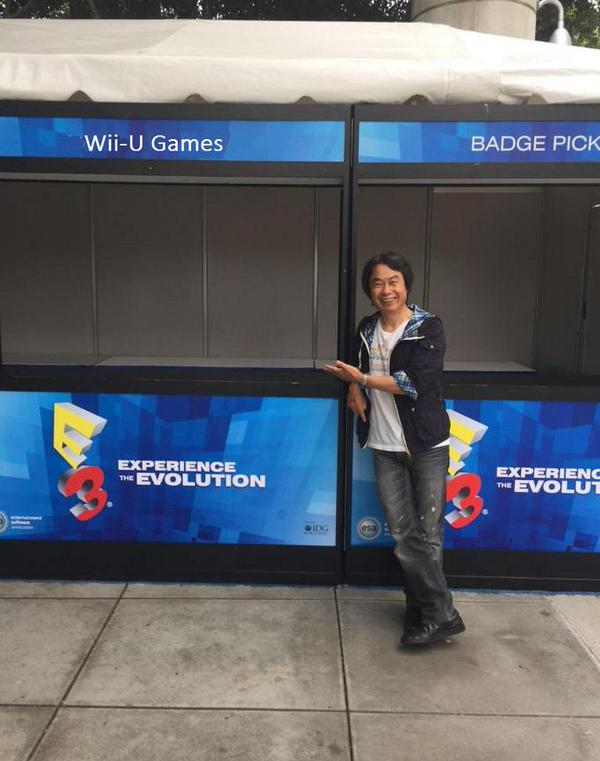 Miyamoto smiling at no Wii U games